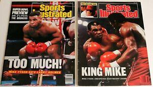 MIKE TYSON 1987 & 1988 NO LABEL SPORTS ILLUSTRATED * LARRY HOLMES & TONY TUCKER