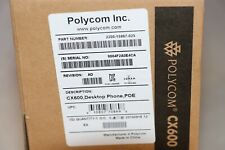Lot of 5 New Polycom CX600 2200-15987-025 VoIP Phones
