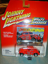 JOHNNY LIGHTNING WILLYS GASSERS 1933 WILLYS SOUZA BROS.& DAD 1/64 new in pkg
