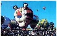 Postcard Tony the Tiger Hot Air Balloon Petley Southwest New Mexico Vintage