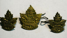 Wwi Canada Collar And Hat Badges South Saskatohewan Xlvi Overseas Great Cond.