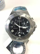 NOS SECTOR 134 SPORTS 3253955025 CHRONO 100M SWISS MOVT SS DATE QUARTZ MEN WATCH