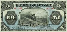 Dominion of Canada 5 Dollars 1912 P30 Reproduce