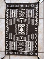 TWO GREY STORM PATTERN NAVAJO RUG / EMILY BETONIE / HUBBELL TRADING POST / EXC