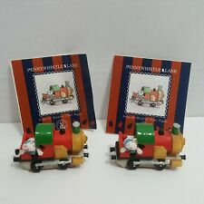 Penny Whistle Lane By Enesco Penny Whistle Express Ornament Figurine 2 Piece Set