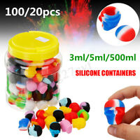 100x/20x 3/5/500ml Skull Silicon Container Non-Stick Oil Shatter Wax Storage