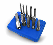 """LONG TRIPLE SQUARE BITS - XZN 12-point Spline bits with 3/8"""" and 1/2"""" drive"""