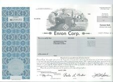 Enron Stock Certificate Wall Street Stock Market Collectible RARE Great Gift!!!