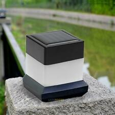 Solar Powered Outdoor LED Square Fence Light Garden Landscape Post Deck Lamp