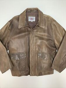 Vintage Indiana Jones Brown Leather Jacket Men's Size M Accurate Prop Raiders