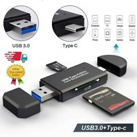 Micro SD Android Card Reader And Type C USB 3.0 Adapter OTG Cards For TF SDXC SD