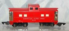CLEANEST American Flyer Lines 630 Red Painted Lighted Caboose 1953 Link AFL S