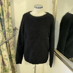 & Other Stories M 12 14 black 67% Angora super soft cosy fluffy jumper cosy