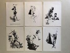 Vintage 1973 Goblin Graphix Jeff Jones Portfolio 6 Black & White Plates