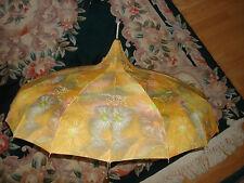 Vintage Nice Victorian Yellow Multicolored Rare  00004000  Waterproof Umbrella Parasol