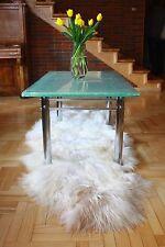Genuine DOUBLE Extra Large Icelandic Sheepskin Rug, Pelt, long Fur -creamy white