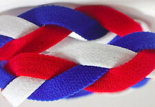 NEW Royal Blue Red White Grippy Band Headband Hair Sport Soccer Softball Stretch