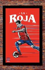 FIFA World Cup Soccer Event Brazil | TEAM CHILE Poster | 11 x 17 inches