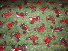 Farmall red tractors baby toddler sheet set