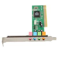 4 Channel 5.1 Surround 3D PCI Sound Audio Card For PC MS Windows 98SE/Me/2000