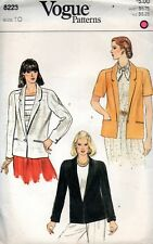 Vogue Sewing Pattern 8223 Hip Length Jacket Size 10