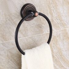 Oil Rubbed Bronze Bathroom Accessories Bath Towel Ring Holder Wall Mounted