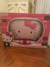 Hello Kitty CD Player and Karaoke Machine w/2 microphones (Flashing Disco Lights