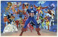 The Avengers Wall Poster 22x34 Marvel Comics Press Tom Ryan Ryan Palmer 1989 New