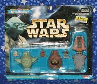 1996 New Sealed Star Wars Micro Machines Collection III Set with Yoda by Galoob