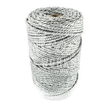 1 x 10m SPARKLING SILVER CHUNKY CHRISTMAS BAKERS TWINE, XMAS BUTCHERS BAKERS 4mm