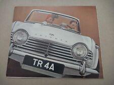 1960's TRIUMPH TR4 Catalogue Brochure Prospekt Dépliant French