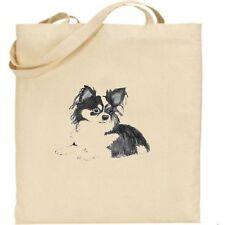 Stampato Tote Shopping Bag Cotone pieghevole per la vita Chiwawa DOG pieghevole Shopper