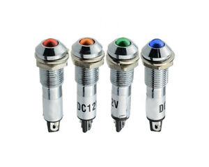LED Signallampe 12 V 230 V Signalleuchte 8 mm Kontrollleuchte Metallfassung
