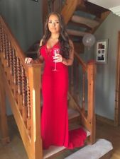 ANGEL FOREVER Stunning Red Prom Dress Ball Gown Size XXS (UK 8) Petite Length