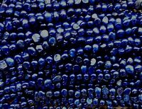 "New!string loose freshwater bead Deep Blue 5-6mm Baroque Pearls excellent "" 014"