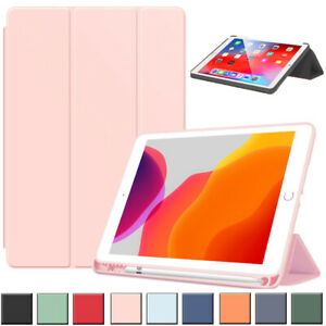 For Apple iPad Shockproof Smart Leather Stand Case Cover Book with Pencil Holder