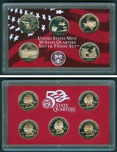 2004 United States Mint SILVER PROOF State Quarter - 5 coin set
