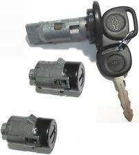 NEW CHEVROLET OEM IGNITION SWITCH LOCK CYLINDER + 2 DOOR LOCK CYLINDER + 2 KEYS
