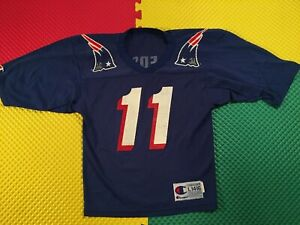 Drew Bledsoe New England Patriots Champion Jersey Youth Size L 14-16 Made USA