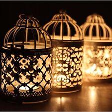 Metal Round Moroccan Votive Candle Holder Hanging Lantern Home Wedding Decor
