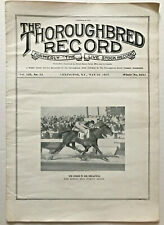 1937 WAR ADMIRAL WINS PREAKNESS! Thoroughbred Record Magazine horse photo Man O'