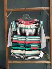 NWT Tea Collection Double Decker Dress Girl 18-24 M Poinsettia