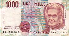 BANCONOTA ITALIANA DA 1000 LIRE MONTESSORI SERIE PG 475218 S SC-7