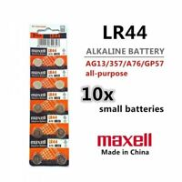 10 Pieces LR44 (A76/AG13) 1.5V Alkaline Button Cell Batteries