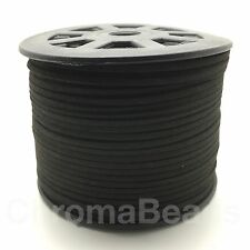 Faux Suede Leather Cord Reel - approx 90m length spool, 3mm wide x1.5mm thick