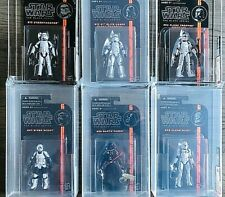 "Star wars Black series LOT of 6 AFA Graded 3.75"" Republic action figures"
