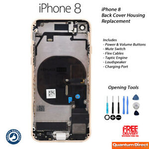 NEW iPhone 8 Fully Assembled Back Cover Housing with ALL Parts - GOLD