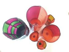 Lot of 6 Vases ENZO MARI corsi design BAMBOO era sottsass knoll eames munari