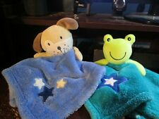 Baby Gear frog & puppy security blanket (Rare)