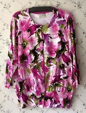 Jones New York Sport Woman 2X Floral Watercolor 3/4 Sleeve Sweater Shirt Top